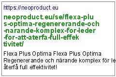 https://neoproduct.eu/se/flexa-plus-optima-regenererande-och-narande-komplex-for-leder-for-att-aterfa-full-effektivitet/